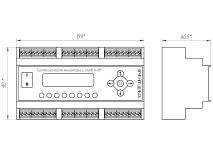 Габаритный чертеж пульт А-8М