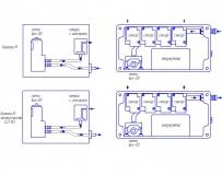 Сравнение схем забора проб газоанализатора Комета-М стандартного и экологического исполнения
