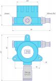 Габаритный чертеж датчика газа